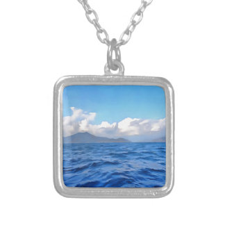 Aegean Blue Silver Plated Necklace