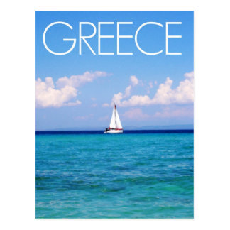 Aegean sea postcard