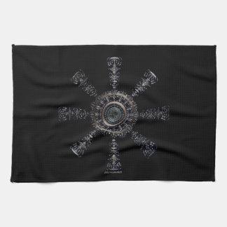 ☼Aegishjalmur – Ancestral and Spiritual Rune☼ Tea Towel