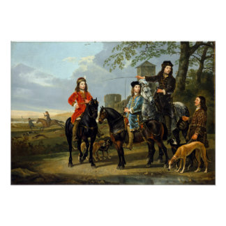Aelbert Cuyp Starting for the Hunt Poster