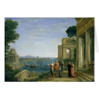 Aeneas and Dido in Carthage, 1675 Card