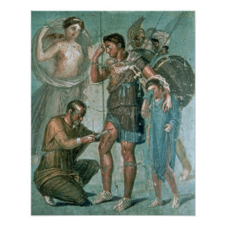 Aeneas injured, from Pompeii Poster