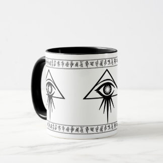 Aeon all-seeing eye mug with Elo runes (White)