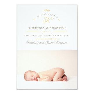 """Aerial Birth Announcement 5"""" X 7"""" Invitation Card"""