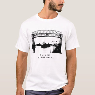 Aerial Bridge in Duluth Minnesota Art T-Shirt