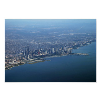 Aerial Downtown Chicago 11x16 Poster