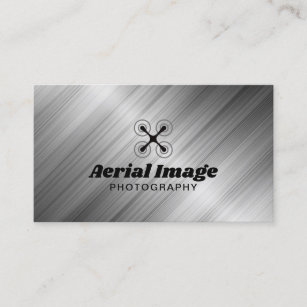 Aerial photography business cards zazzle au aerial drone photography professional metal business card reheart Images