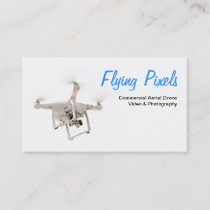 Aerial photography business cards zazzle au aerial drone video photography service business card reheart Images