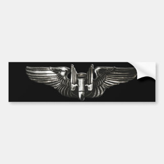 Aerial Gunner Wings Bumper Sticker
