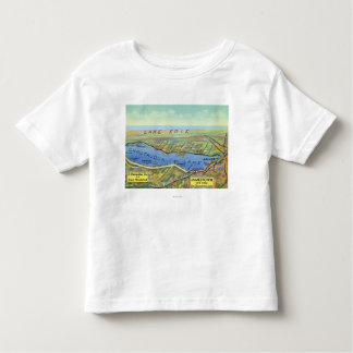 Aerial Map of Lake and Surrounding Towns Toddler T-Shirt