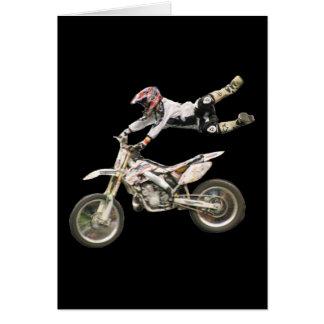 aerial moto-cross blank #1 vert card