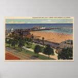 Aerial of Pleasure Pier & Yacht Harbour Print