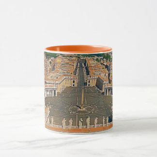 Aerial of St. Peter's Square Two-Toned Orange Mug