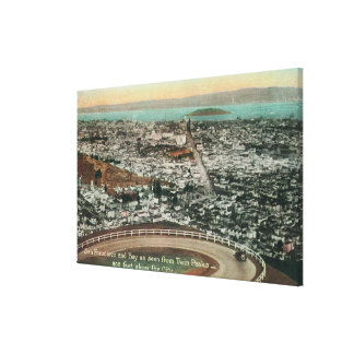 Aerial of the City from the Twin Peaks Gallery Wrapped Canvas