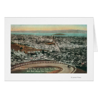 Aerial of the City from the Twin Peaks Greeting Card