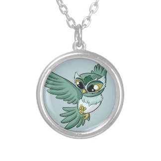Aerial Owl! Silver Plated Necklace