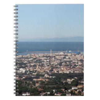 Aerial panorama of Livorno city Tuscany Italy Notebook