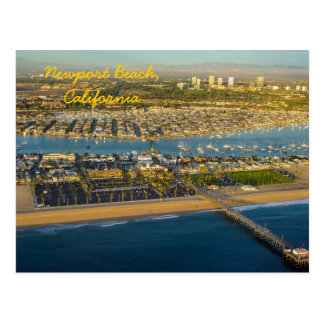 Aerial Photograph of Newport Beach California Postcard