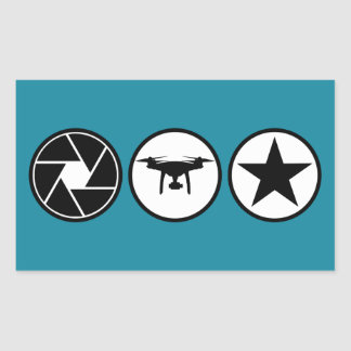 Aerial Photographer DJI Phantom USA Rectangular Sticker