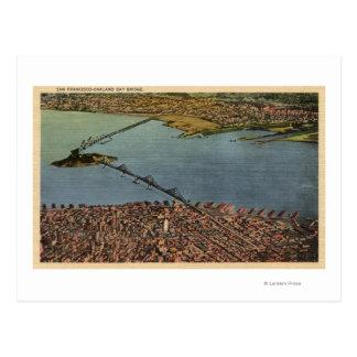 Aerial, San Francisco-Oakland Bay Bridge Postcard