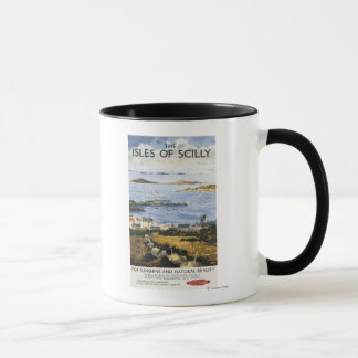 Aerial Scene of Town and Dock Railway Poster Mug