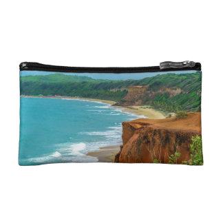 Aerial Seascape Scene Pipa Brazil Cosmetics Bags