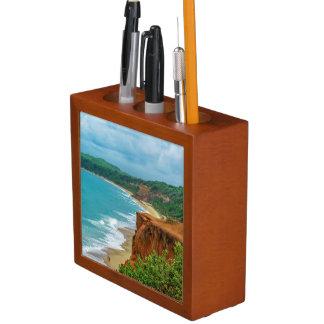 Aerial Seascape Scene Pipa Brazil Desk Organiser