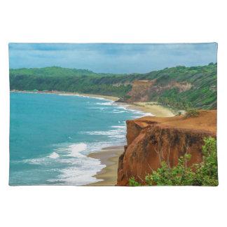 Aerial Seascape Scene Pipa Brazil Placemat
