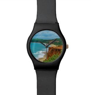 Aerial Seascape Scene Pipa Brazil Wrist Watches