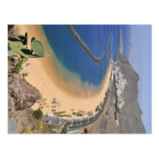 Aerial view a beach of Tenerife Postcard