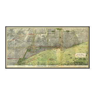 Aerial View Chicago, Illinois by Peter Roy (1893) Canvas Print