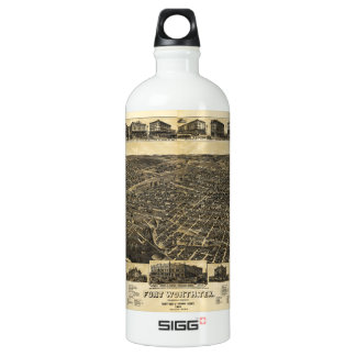 Aerial View Fort Worth Tarrant County Texas (1886) SIGG Traveller 1.0L Water Bottle
