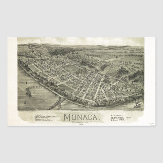 Aerial View if Monaca, Pennsylvania (1900) Rectangular Sticker