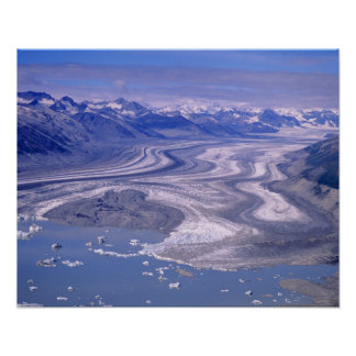Aerial view Lowell Glacier, Kluane National Poster