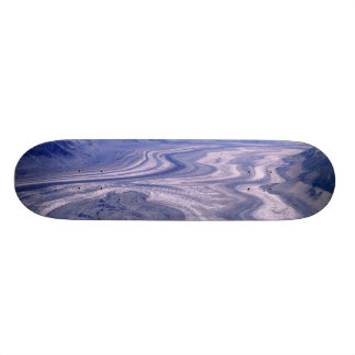Aerial view Lowell Glacier, Kluane National Custom Skateboard