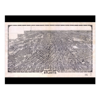 Aerial View Map of Atlanta Georgia (1919) Postcard