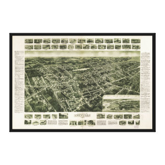 Aerial View of Amityville, New York (1925) Canvas Print