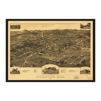 Aerial View of Anniston, Alabama (1887) Canvas Print