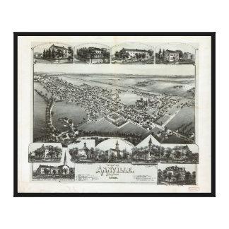 Aerial View of Annville, Pennsylvania (1888) Canvas Print