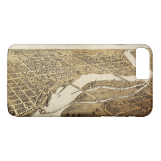 Aerial View of Appleton, Wisconsin (1867) iPhone 8 Plus/7 Plus Case