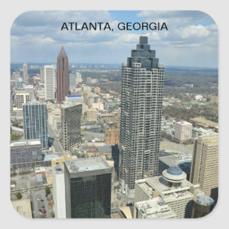 Aerial View of Atlanta, Georgia Square Sticker