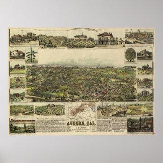 Aerial View of Auburn, California (1887) Poster
