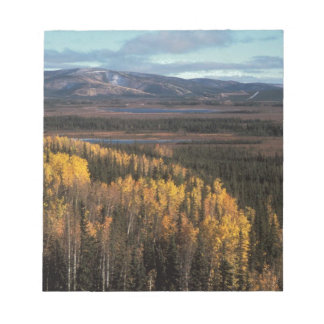 AERIAL VIEW OF AUTUMN LANDSCAPE NOTEPADS