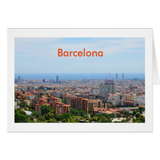 Aerial view of Barcelona, Spain Card