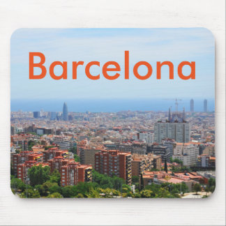 Aerial view of Barcelona, Spain Mouse Pad