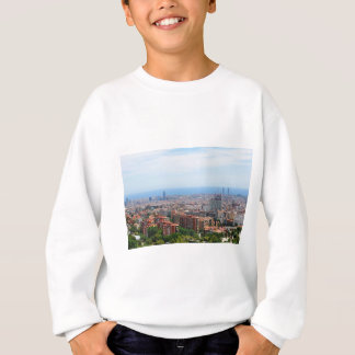 Aerial view of Barcelona, Spain Sweatshirt