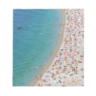 Aerial view of beach in Nice, France Notepads
