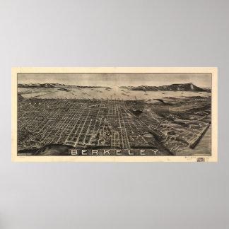 Aerial View of Berkeley, California (1909) Poster