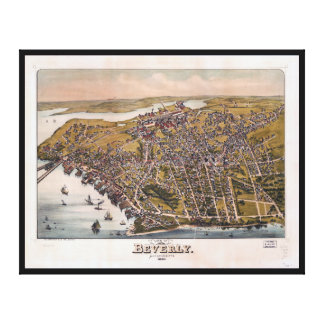 Aerial View of Beverly, Massachusetts (1886) Canvas Print