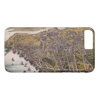Aerial View of Beverly, Massachusetts (1886) iPhone 8 Plus/7 Plus Case